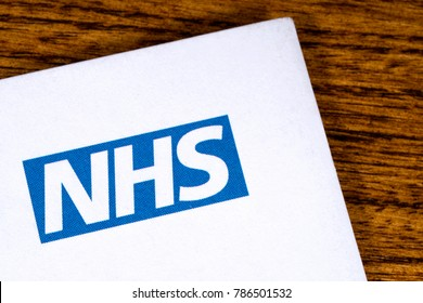 LONDON, UK - DECEMBER 18TH 2017: Close-up of the National Health Service logo on a letterhead, on 18th December 2017.