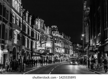 London, UK - December 1st 2013: Shaftesbury Avenue, West End, London, busy with theater shows and entertainment