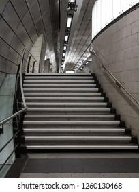 London UK, December 2018. Interior of Southwark Underground Station, London