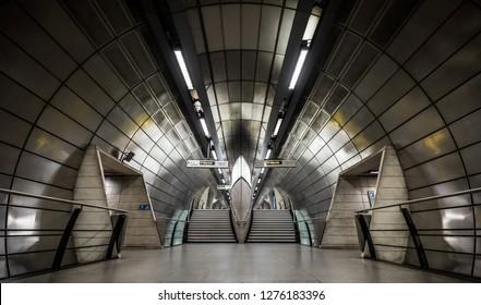 London UK - Decemeber 28, 2018: Southwark London Underground Tube Station