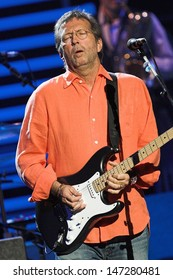 London. UK. Eric Clapton at the Royal Albert Hall. 25th May 2006. Neil Lupin/Landmark Media.