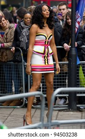 LONDON, UK - FEB. 06: alesha dixon arrives for the London stage of Britains Got Talent in London on the Feb 06, 2012 in London, UK