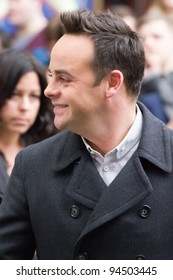 LONDON, UK - FEB. 06: Anthony McPartlin arrives for the London stage of Britains Got Talent in London on the Feb 06, 2012 in London, UK