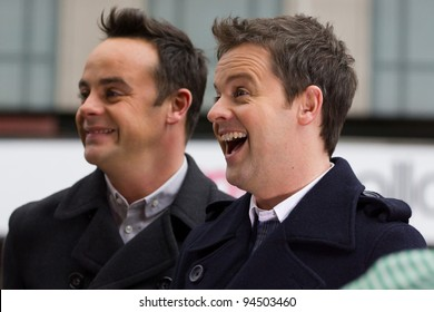 LONDON, UK - FEB. 06: Anthony McPartlin and Declan Donnelly arrive for the London stage of Britains Got Talent in London on the Feb 06, 2012 in London, UK