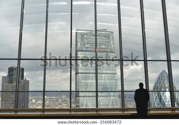 LONDON, UK - FEB 25: The Sky Garden, 20 Fenchurch Street on February 25, 2015, in London, UK. Rafael Vinoly designed (Walkie-Talkie) with public space 35th - 37th floors with restaurants, bar and cafe