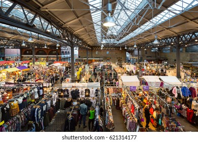 LONDON, UK - FEBRUARY 04, 2017; Old Spitalfields Market, London