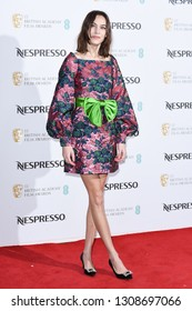 LONDON, UK. February 09, 2019: Alexa Chung arriving for the 2019 BAFTA Film Awards Nominees Party at Kensington Palace, London.Picture: Steve Vas/Featureflash