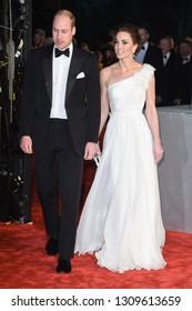 LONDON, UK. February 10, 2019: Duke & Duchess of Cambridge arriving for the BAFTA Film Awards 2019 at the Royal Albert Hall, London.Picture: Steve Vas/Featureflash