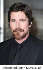 LONDON, UK. February 10, 2019: Christian Bale arriving for the BAFTA Film Awards 2019 at the Royal Albert Hall, London.Picture: Steve Vas/Featureflash