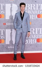 LONDON, UK. February 20, 2019: Shaun Mendes arriving for the BRIT Awards 2019 at the O2 Arena, London.Picture: Steve Vas/Featureflash*** EDITORIAL USE ONLY ***