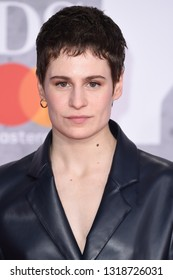 LONDON, UK. February 20, 2019: Heloise Letissier (Christine & the Queens) arriving for the BRIT Awards 2019 at the O2 Arena, London.Picture: Steve Vas/Featureflash*** EDITORIAL USE ONLY ***