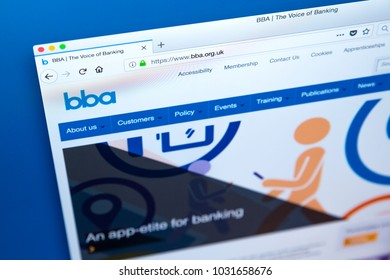 LONDON, UK - FEBRUARY 22ND 2018: The homepage of the official Website of the British Bankers Association - a trade association for the UK banking and financial services sector, on 22nd February 2018.
