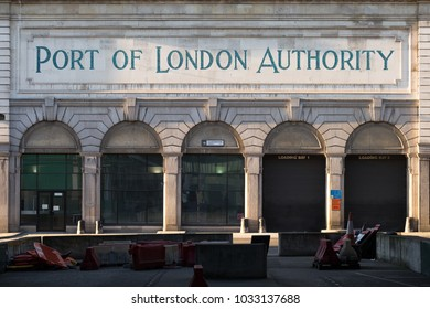 LONDON, UK - FEBRUARY 25, 2018: the historic Port of London Authority building, on Charterhouse Street in Farringdon.