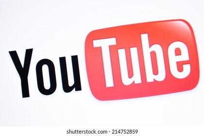 LONDON, UK - FEBRUARY 3, 2011: Close up of Youtube website on laptop screen