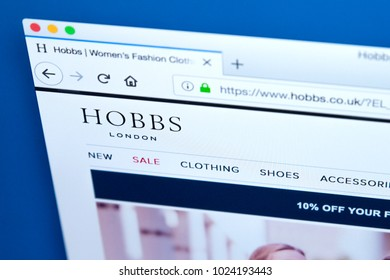 LONDON, UK - FEBRUARY 8TH 2018: The homepage of the official website for Hobbs - the womens clothing, footwear and accessories retailer, on 8th February 2018.