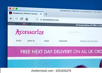 c4f8b8b20f LONDON, UK - FEBRUARY 8TH 2018: The homepage of the official website for  Accessorize