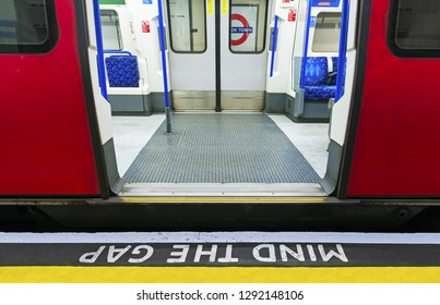 LONDON, UK - Gennary 5, 2019 - Editorial: The London Underground (familiarly called the Tube) is a public transit system serving 270 stations in greater London. Passengers pay with the Oyster card