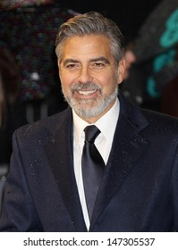 London. UK. George Clooney at  the EE British Academy Film Awards (BAFTAs) at the Royal Opera House in London. 10th February 2013.