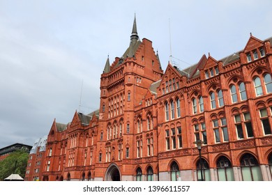 London, UK - Holborn Bars building. Grade II listed Victorian terracotta building.