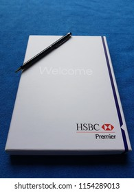 London, UK: HSBC UK Premier Banking welcome pack.