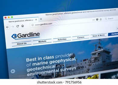 LONDON, UK - JAN 10TH 2018: The homepage of the official website for the Gardline Group - a holding company that consists of companies focussed primarily on service industries, on 10th January 2018.