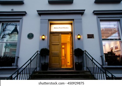 LONDON, UK - JAN 17, 2016: Abbey Road recording studios made famous by the 1969 Beatles album