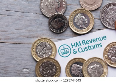 LONDON, UK - Jan 24th 2019: HMRC Her Majesty's Revenue and Customs tax paperwork