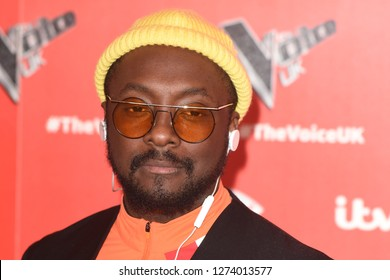 """LONDON, UK. January 03, 2019: Will.i.am at the launch photocall for the 2019 series of """"The Voice"""" London.Picture: Steve Vas/Featureflash"""