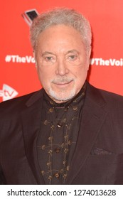 """LONDON, UK. January 03, 2019: Sir Tom Jones at the launch photocall for the 2019 series of """"The Voice"""" London.Picture: Steve Vas/Featureflash"""