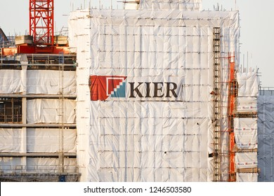 London, UK - January 06, 2012. Building under construction by Kier Group. Kier Group Plc is a construction and property company headquartered in the United Kingdom