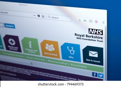 LONDON, UK - JANUARY 15TH 2018: The homepage of the official website for the Royal Berkshire NHS Foundation Trust, on 15th January 2018.