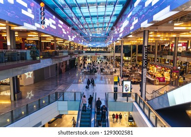London, Uk - January 17 2019: Colorful Westfield Shopping Mall in Stratford, London.