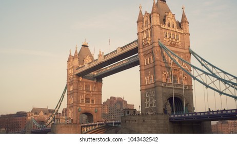 LONDON, UK. January 19, 2017. Tower Bridge. With people.