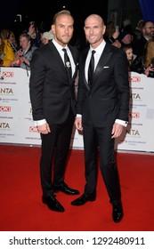 LONDON, UK. January 22, 2019: Matt Goss & Luke Goss at the National TV Awards 2019 at the O2 Arena, London.