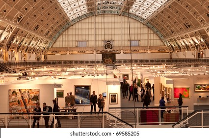 LONDON, UK- JANUARY 23: A view of the Prestigious London Art Fair, showing contemporary and modern art from a variety of galleries. January 23, 2011 in London, UK