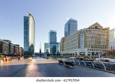 LONDON, UK - JANUARY 28, 2017, Canary Wharf Docklands in London