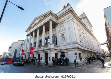 LONDON, UK - JANUARY 28, 2017: The Royal Opera House in Covent Garden, London