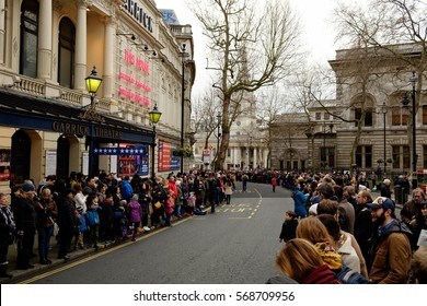 LONDON, UK - JANUARY 29, 2017: Celebrations in central London for the Chinese new year. 2017 year of the rooster.