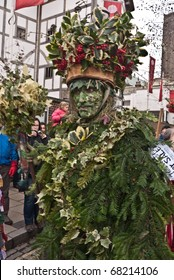 LONDON, UK - JANUARY 3: The Holly Man, part of the Annual Twelfth Night Celebrations on January 3, 2011 in London, UK.