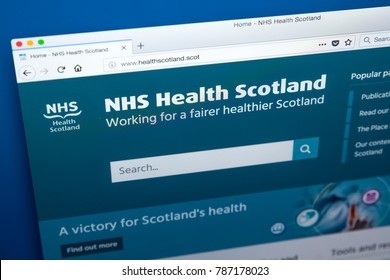 LONDON, UK - JANUARY 4TH 2018: The homepage of the official website for NHS Health Scotland - the national education and promotion agency, on 4th January 2018..