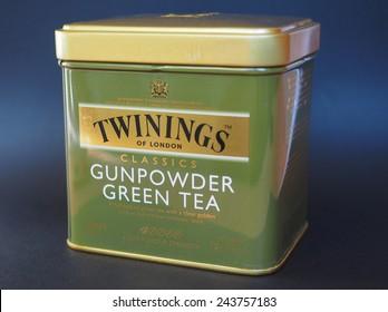 LONDON, UK - JANUARY 6, 2015: Twinings Gunpowder Green tea