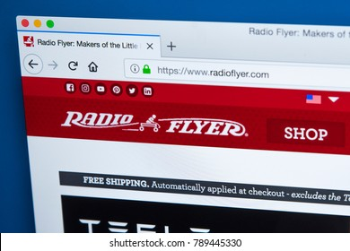 LONDON, UK - JANUARY 8TH 2018: The homepage of the official website for Radio Flyer - the American toy company, on 8th January 2018.