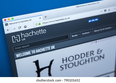 LONDON, UK - JANUARY 8TH 2018: The homepage of the official website for Hachette - the French publisher, on 8th January 2018.