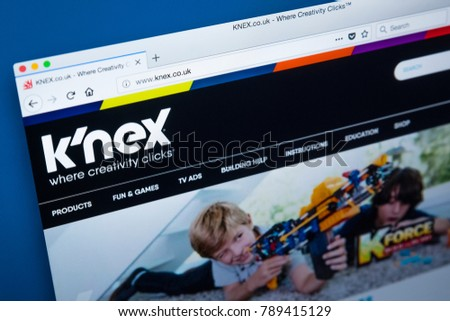 b99bf4f3dd LONDON, UK - JANUARY 8TH 2018: The homepage of the official website for KNex