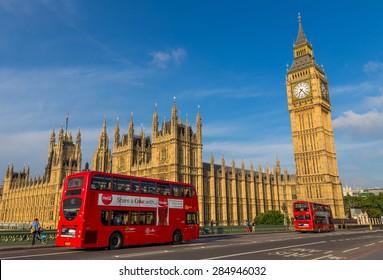 London, UK - July 06, Big Ben, July 06.2014 in London