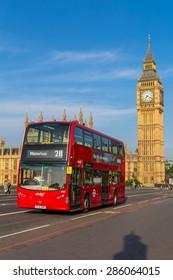 London, UK - July 07, Big Ben, July 07.2014 in London