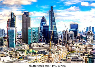 London, UK - July 11,2016 - Panorama of London from above