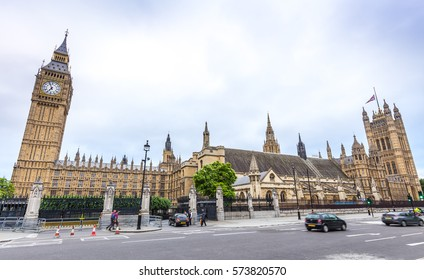 London, UK - July 13, 2016 - Parliament building in London