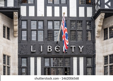 London, UK, July 14, 2019. Liberty, commonly known as Liberty's, is a department store in Great Marlborough Street, in the West End of London