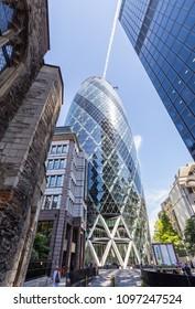 London, UK - July 15,2016 - Business district in London